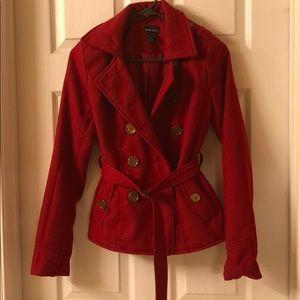 Wet seal Red Pea coat